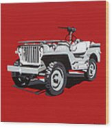 Willys Jeep Wood Print by Slade Roberts