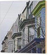 Wilmington Houses Wood Print