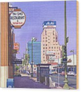 Wilshire Blvd At Mansfield Wood Print