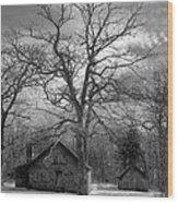Wilson Lick Ranger Station Wood Print by Debra and Dave Vanderlaan