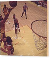 Wilt Chamberlain Finger Roll  Wood Print by Retro Images Archive