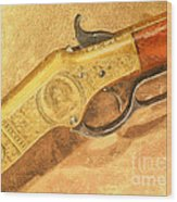 Winchester 1866 Yellow Boy Rifle Wood Print by Odon Czintos