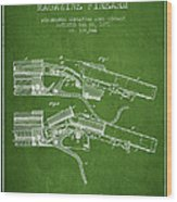 Winchester Firearm Patent Drawing From 1877 - Green Wood Print