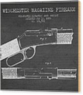 Winchester Firearm Patent Drawing From 1888- Dark Wood Print