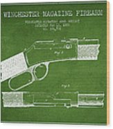 Winchester Firearm Patent Drawing From 1888- Green Wood Print