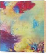 Wind Abstract Painting Wood Print