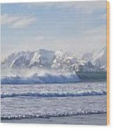 Wind And Waves On Kodiak Wood Print by Tim Grams