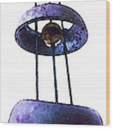 Wind Chime 8 Wood Print by Sharon Cummings
