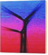 Wind Energy Abstract Wood Print