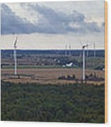 Wind Energy Panorama Wood Print