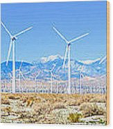 Wind Farm Palm Springs Wood Print