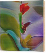 Wind Flower Wood Print