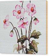 Wind Flowers Wood Print