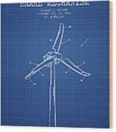 Wind Generator Break Mechanism Patent From 1990 - Blueprint Wood Print