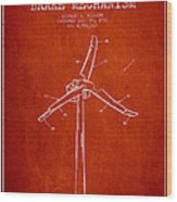 Wind Generator Break Mechanism Patent From 1990 - Red Wood Print