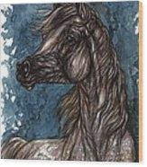 Wind In The Mane Wood Print