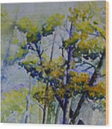 Wind In The Trees  Wood Print