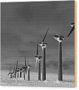 Wind Power Down Wood Print by Daniel Hagerman