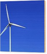 Wind Powered Electric Turbine Wood Print