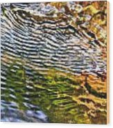 Wind Ripples Wood Print
