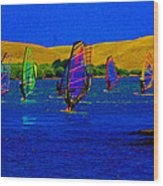 Wind Surf Lessons Wood Print