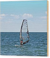 Wind Surfer Wood Print