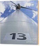 Wind Turbine. No 13 Wood Print by Bernard Jaubert