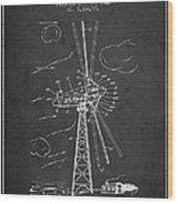 Wind Turbine Patent From 1944 - Dark Wood Print