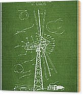 Wind Turbine Patent From 1944 - Green Wood Print