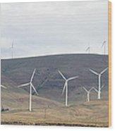 Wind Turbine Power Farm Wood Print