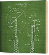 Wind Turbine Rotor Blade Patent From 1995 - Green Wood Print