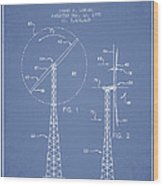 Wind Turbine Rotor Blade Patent From 1995 - Light Blue Wood Print