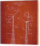 Wind Turbine Rotor Blade Patent From 1995 - Red Wood Print