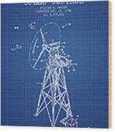 Wind Turbine Speed Control Patent From 1994 - Blueprint Wood Print