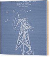 Wind Turbine Speed Control Patent From 1994 - Light Blue Wood Print