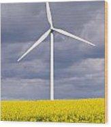 Wind Turbine With Rapeseed Wood Print