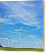 Wind Turbines Farm Wood Print