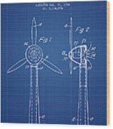 Wind Turbines Patent From 1984 - Blueprint Wood Print