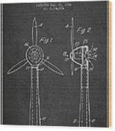 Wind Turbines Patent From 1984 - Dark Wood Print