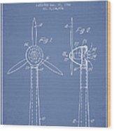 Wind Turbines Patent From 1984 - Light Blue Wood Print