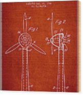 Wind Turbines Patent From 1984 - Red Wood Print