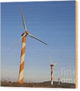 Wind Turbines  Wood Print by Shay Levy