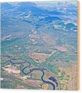 Winding River From The Seaplane In Katmai National Preserve-alaska Wood Print