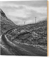 Winding Road In Glen Etive Wood Print by John Farnan