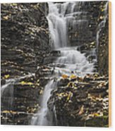 Winding Waterfall Wood Print by Christina Rollo