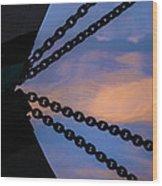 Windjammer Schooner Appledore Bobstays In Abstract Wood Print