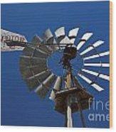 Windmill Aermotor Company Wood Print