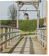 Windmill Bridge Wood Print