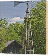 Windmill - Cedar Hill State Park Wood Print