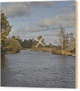 Windmill How Hill Wood Print